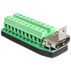 Delock Adapter HDMI female Terminal Block 20pin