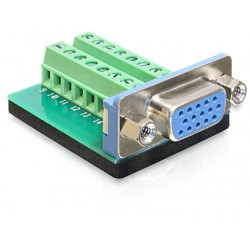 Delock Adapter VGA female Terminal Block 16pin