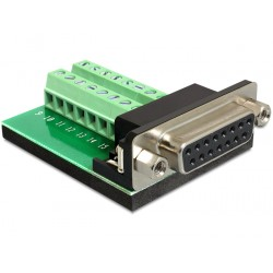 Terminal adapter Sub-D 15pin żeński Gameport Delock 65274