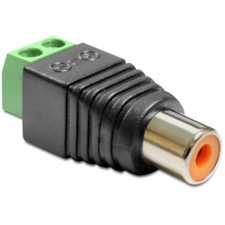 Terminal adapter Cinch 2pin żeński Delock 65418