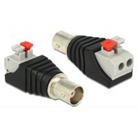 Delock Adapter BNC female Terminal Block with push button 2pin