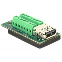 Delock Adapter USB 3.0 / 3.1 PD A female Terminal Block 14pin