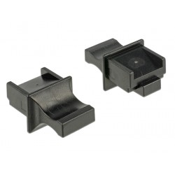 Delock Dust Cover for RJ45 jack with grip black