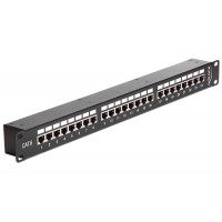 Patch Panel prosty 1:1 24-portowy Cat.6 Delock 43295